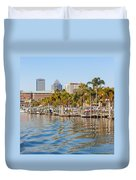 Home And Water And City Duvet Cover