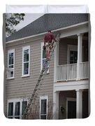 Home Construction Duvet Cover