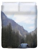 Home In The Mountains Duvet Cover