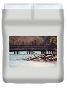 Home Of The Black-crowned Night Heron Duvet Cover