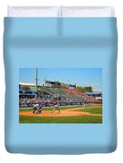 Home Run Or Struck Out Duvet Cover