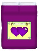 Home Sweet Home Purple Hearts 1 Duvet Cover