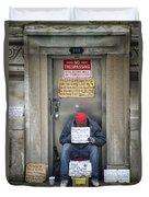 Homeless In The Usa Duvet Cover