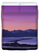 Homer Spit Sunset Kenai Mtns Kenai Duvet Cover