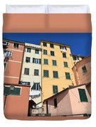 homes in Sori - Italy Duvet Cover