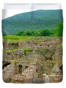 Homes Of The Rich In Central Ephesus-turkey Duvet Cover