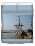 Homesteaders Sailing Ships Duvet Cover