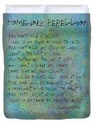 Homework Rebellion Duvet Cover