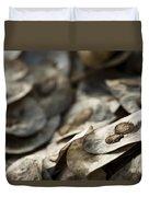 Honesty Seeds Duvet Cover by Anne Gilbert