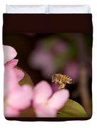 Honey Bee And Crabapple Duvet Cover