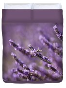 Honey Bee In Lavender Duvet Cover