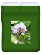 Honey Bee On Lavender Flower Duvet Cover
