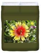 Honey Bees On Flower Duvet Cover