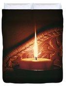 Honey Fire Duvet Cover