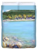Honey Moon Beach Duvet Cover