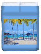 Honey Moon Beach Day Duvet Cover