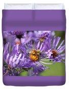 Honeybee And Aster Duvet Cover