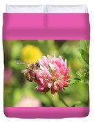 Honeybee And Clover Duvet Cover