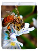 Honeybee And Squill Duvet Cover
