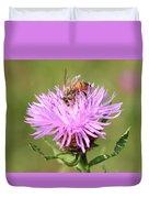 Honeybee At Work Duvet Cover