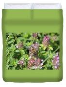 Honeybee On Heal All Duvet Cover