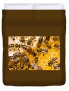 Honeybee Workers And Queen Duvet Cover