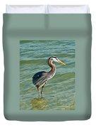 Honeymoon Island Heron Duvet Cover