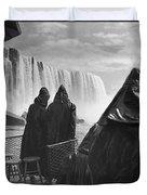 Honeymooners At Niagara Falls Duvet Cover