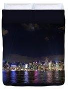 Hong Kong Symphony Of Lights Show Duvet Cover