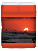 Honolulu At Sundown Duvet Cover