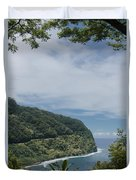 Honomanu Highway To Heaven Road To Hana Maui Hawaii Duvet Cover