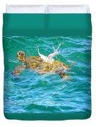 Honu Hawaiian Green Sea Turtle Duvet Cover
