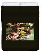 Hooded Warbler - Img_9349-001 Duvet Cover