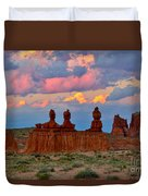 Hoodoo Storm Duvet Cover by Marty Fancy