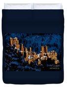 Hoodoos In Shadows Bryce Canyon National Park Utah Duvet Cover