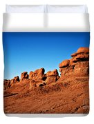Hoodoos Row Duvet Cover