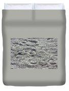 Hoof Prints In Sand Duvet Cover