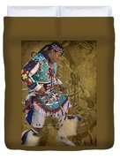 Hoop Dancer Past And Present Duvet Cover