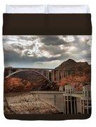 Hoover Dam Bridge Duvet Cover