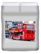 Hop On And Hop Off Bus In Bergen Duvet Cover