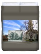 Hope Club And First Unitarian Church In Providence Ri Duvet Cover