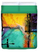 Hope - Colorful Abstract Art By Sharon Cummings Duvet Cover