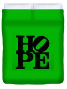Hope In Green Duvet Cover