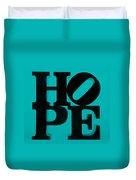 Hope In Light Blue Duvet Cover