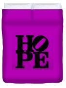 Hope In Purple Duvet Cover