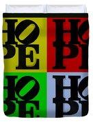 Hope In Quad Colors Duvet Cover