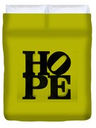 Hope In Yellow Duvet Cover