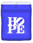 Hope Inverted Blue Duvet Cover