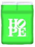 Hope Inverted Green Duvet Cover