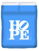 Hope Inverted Light Blue Duvet Cover